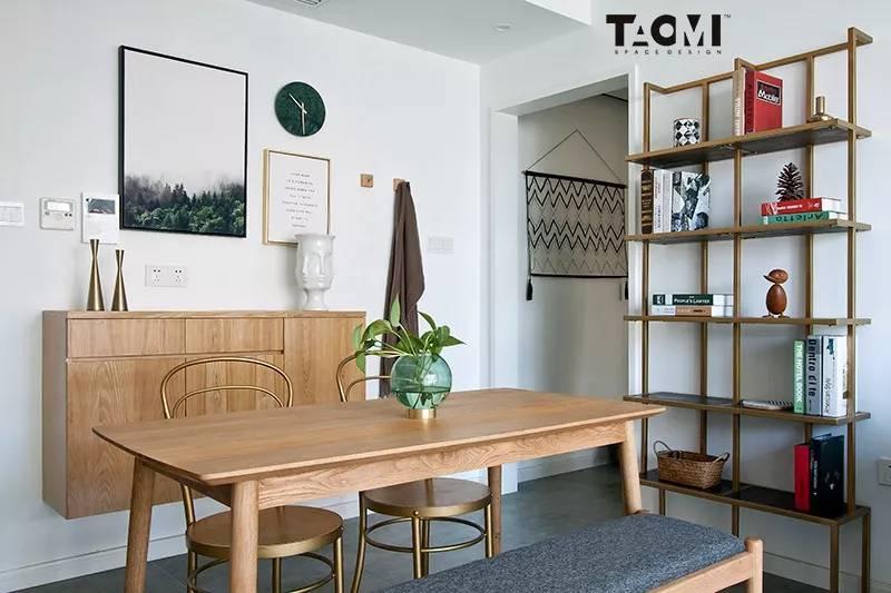 80㎡两室一厅住一家三心,治愈系本木加清爽北欧