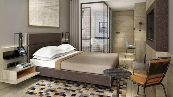 带衣帽间、卫生间的卧室装修,居住环境更舒适,真是漂亮!
