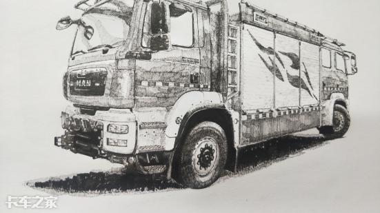 笔尖上的卡车,不会开大车的老司机不是好画家