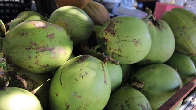 买椰子,可别挑有水声晃动的!水果商贩就最喜欢买这种椰子的顾客