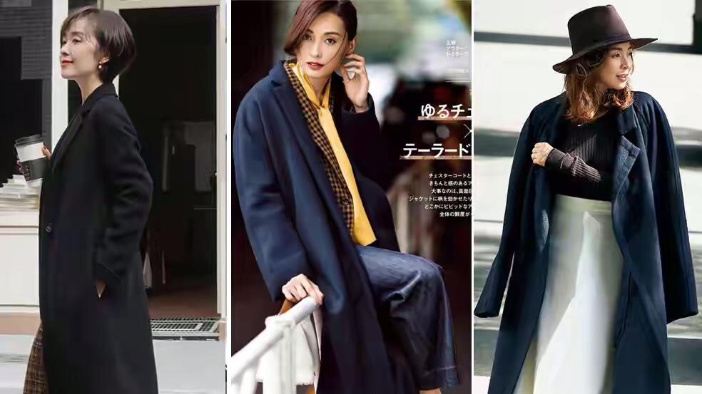 冬季长款外套高雅精致穿搭示范,从版型到配色,实用时髦值得收藏