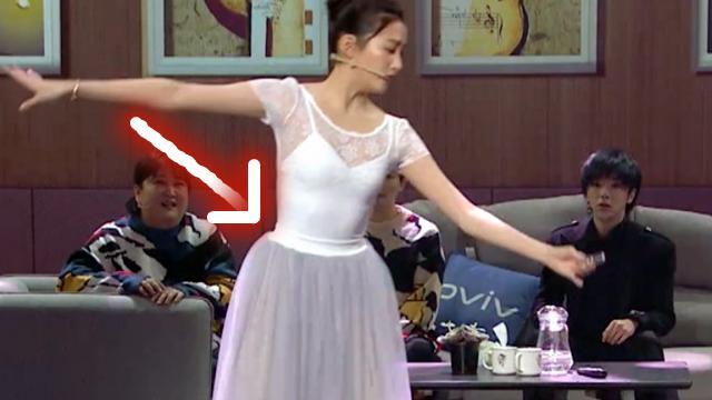 难怪女星不敢在节目上跳芭蕾!关晓彤腰粗,蒋欣胳膊粗,就连她也被狂喷