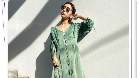 清新而时尚!现在流行的浅绿色穿搭,很适合炎热的季节
