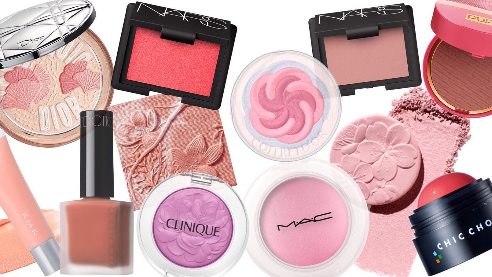 时装周彩妆趋势,粉红与亮橘是本季腮红主流!像恋爱般的超自然好气色