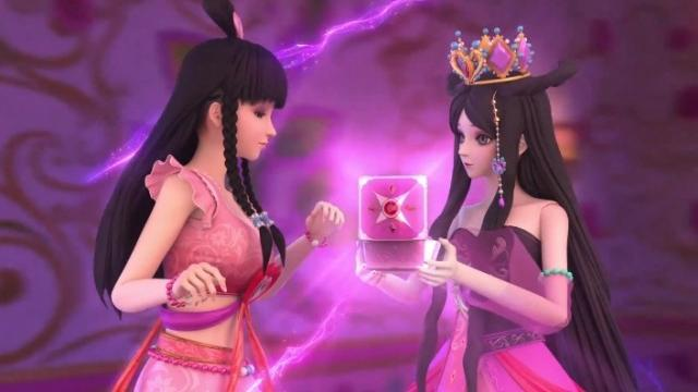 叶罗丽:公主们都换新鞋子了,冰公主的藏在裙摆暗处,似乎很害羞