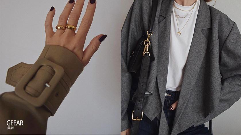 点缀迷人细节:偷师时髦博主们的金色饰品,替秋冬穿搭质感加分!