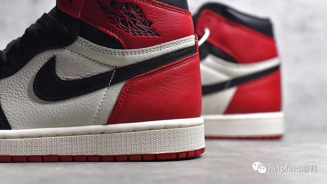 AJ1最经典的黑红配色!AJ1黑红脚趾开箱评测