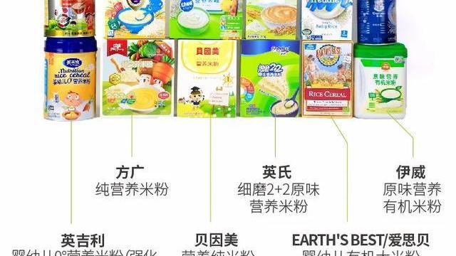 12款婴幼儿米粉对比测试:衍生检出超标硝酸盐,喜宝、爱思贝镉含量稍高