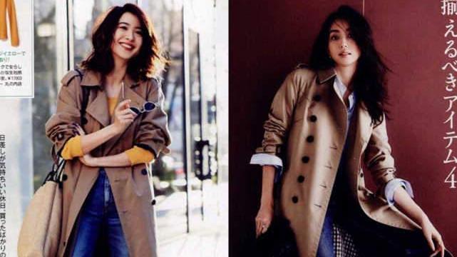 40+女人穿衣要精不要多,跟日本达人学风衣穿搭,减龄还显气质
