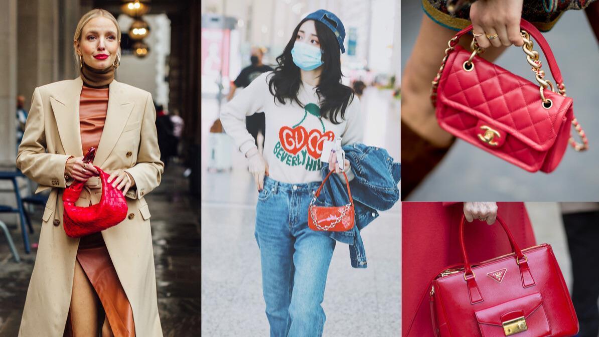 气质女性没有包包怎么行?红色包包了解一下,挎包、手包应有尽有