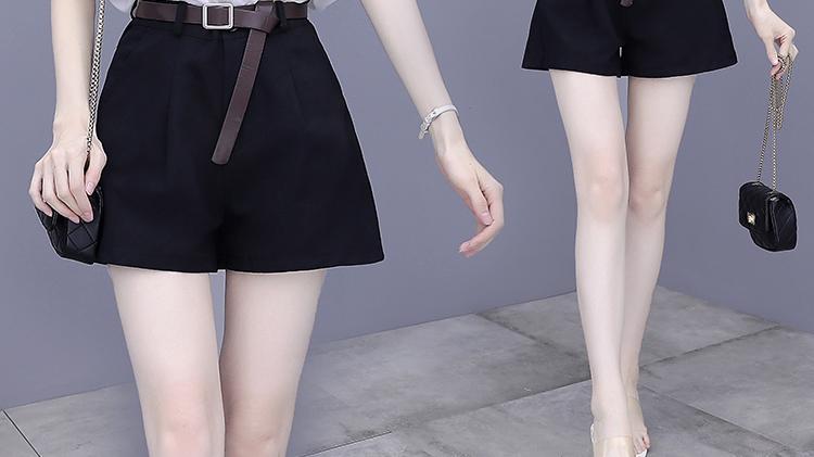 夏季韩版印花雪纺衫休闲气质小香风洋气显瘦短裤 仙女必备