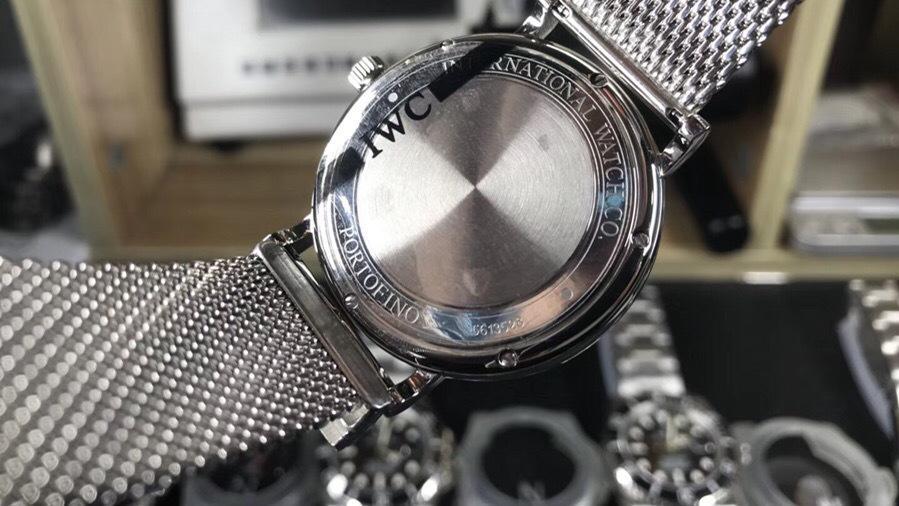 最经典的MKS厂万国柏涛菲诺银壳白盘米兰钢带款采用9015自动机械机芯