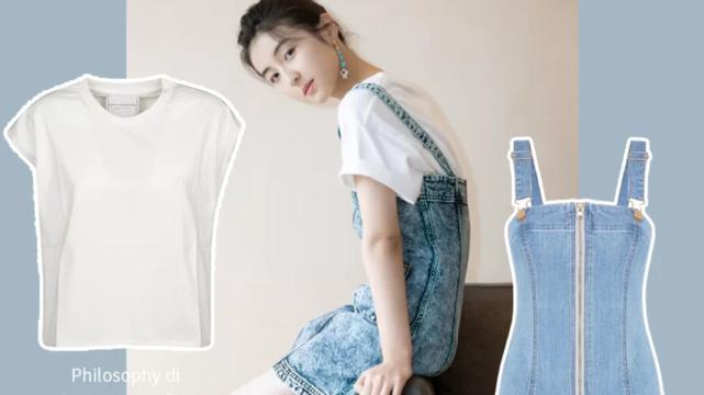 """别人都嫌土的""""拖把裙"""",张子枫却非穿去拍照,这18岁审美太绝"""