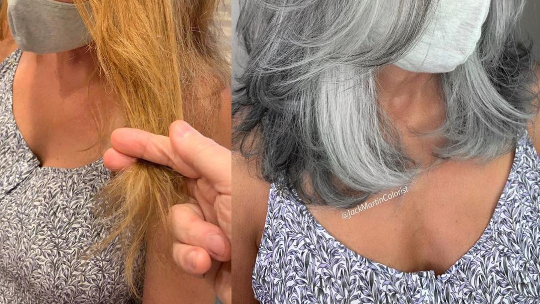 70岁白发阿姨换款发型,变化真不小,堪比整容,美到不敢相信