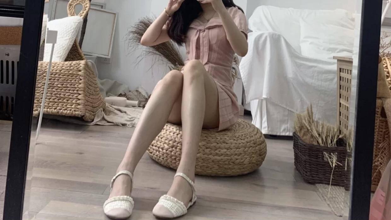 夏日高颜值的约会女鞋,用裸色演绎纯净,做哥哥心中的白月光