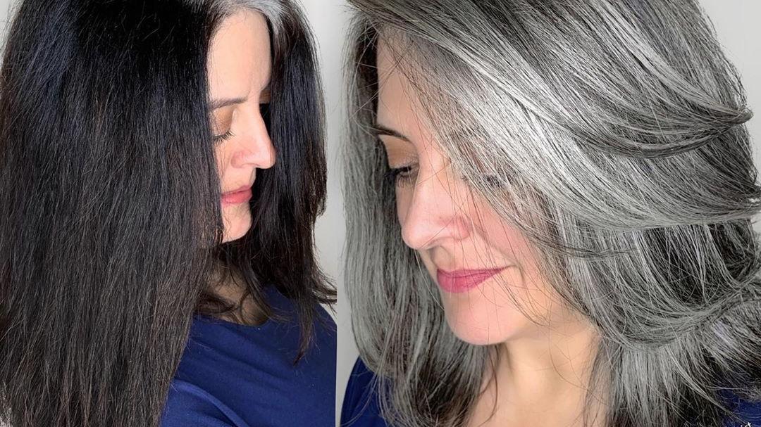当下流行发型有多美?60多岁白发阿姨都不染黑发了,你还不试试