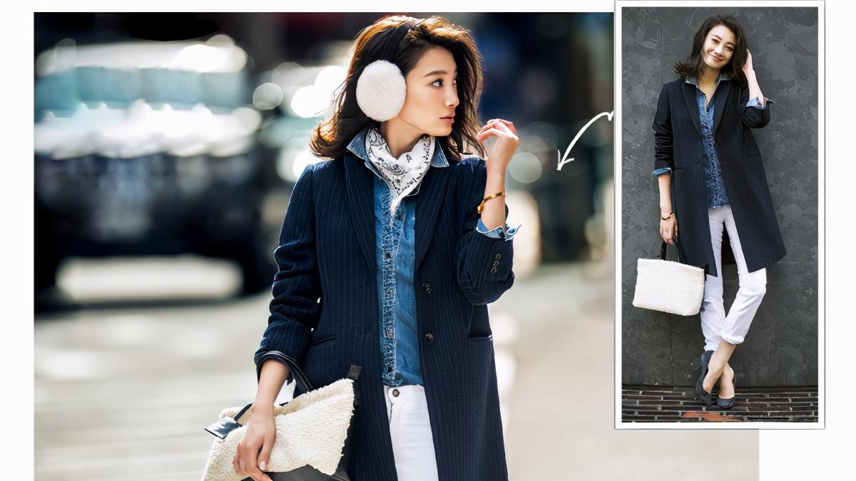 冬季时尚穿搭女式大衣,一件大衣用不同配饰变化风格