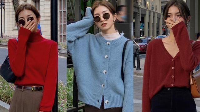 """最近火了一种穿搭,""""高领毛衣+长裤"""",保暖性高又时髦,超好看"""