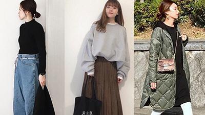 秋季物品的成年女性的粗糙服装