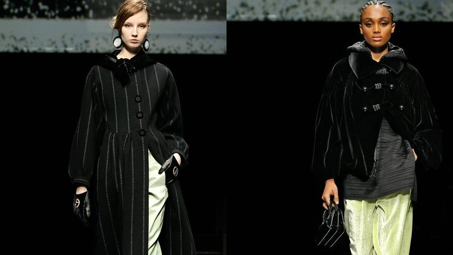 米兰时装周丨Giorgio Armani 2020 秋冬系列——阿玛尼的天鹅绒穿搭