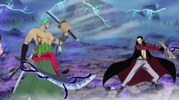 海贼王:索隆与鹰眼的终极决战在所难免,索隆:这是我毕生的梦想