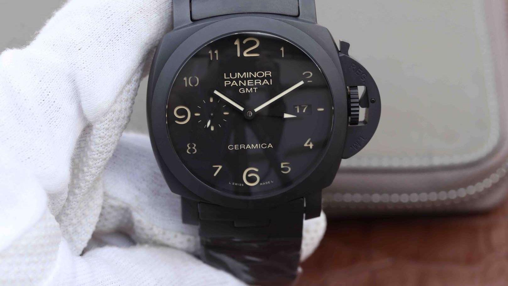 腕表刻度1号:评测VS厂复刻表沛纳海00438陶瓷gmt腕表也叫死三八