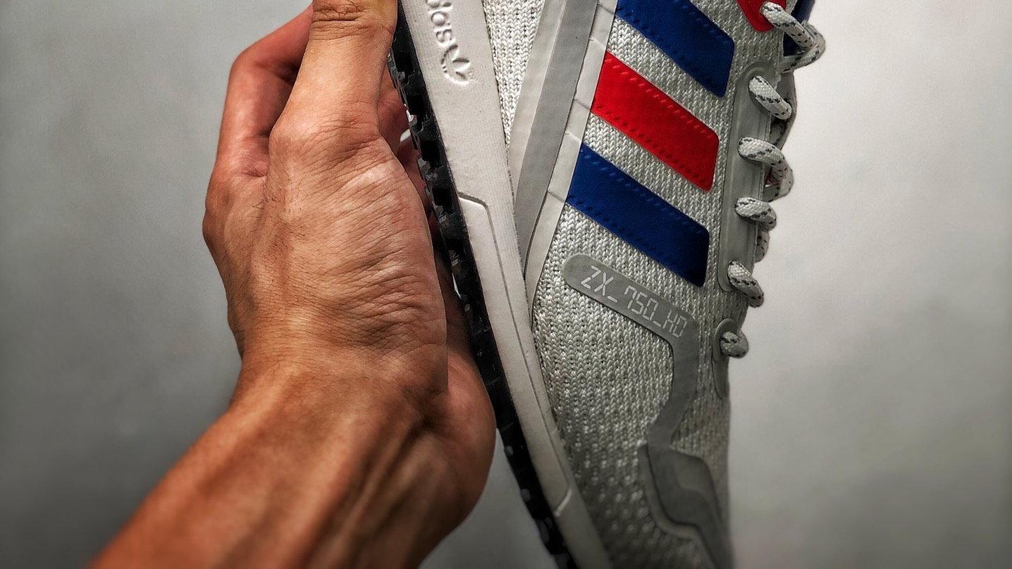 Adidas Originals ZX 750 Hd 灰蓝红 开箱