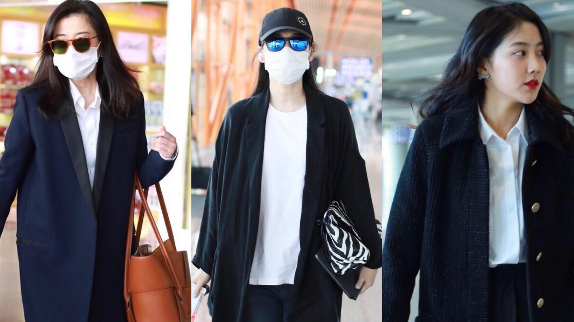 """王丽坤真是大衣""""穿搭模版"""",叠穿粉衬衣气质好,冬季保暖还时髦"""