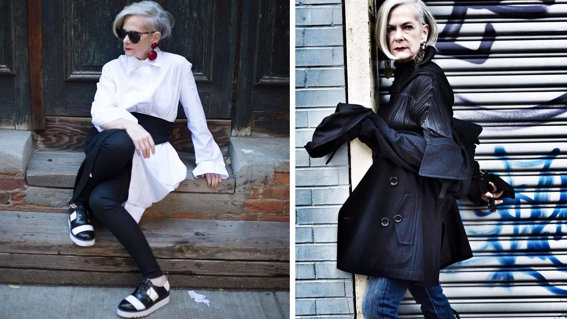 这位花甲老奶奶太惊艳!穿搭时髦优雅有气质,个性一点不输年轻人