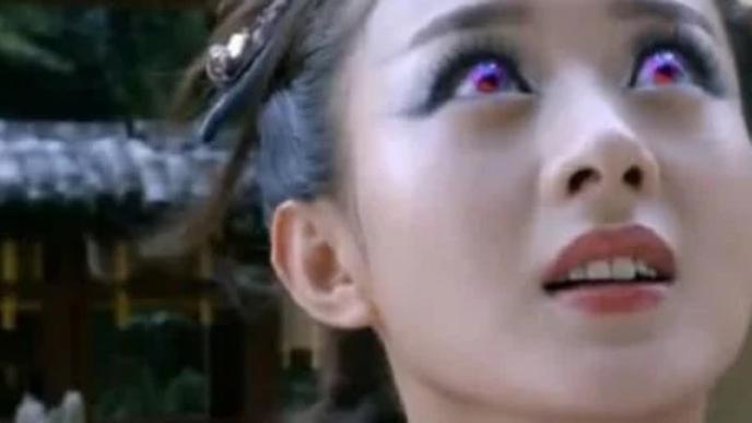 同样是黑化,赵丽颖靠特效,李沁靠化妆,她一个眼神让人颤抖!