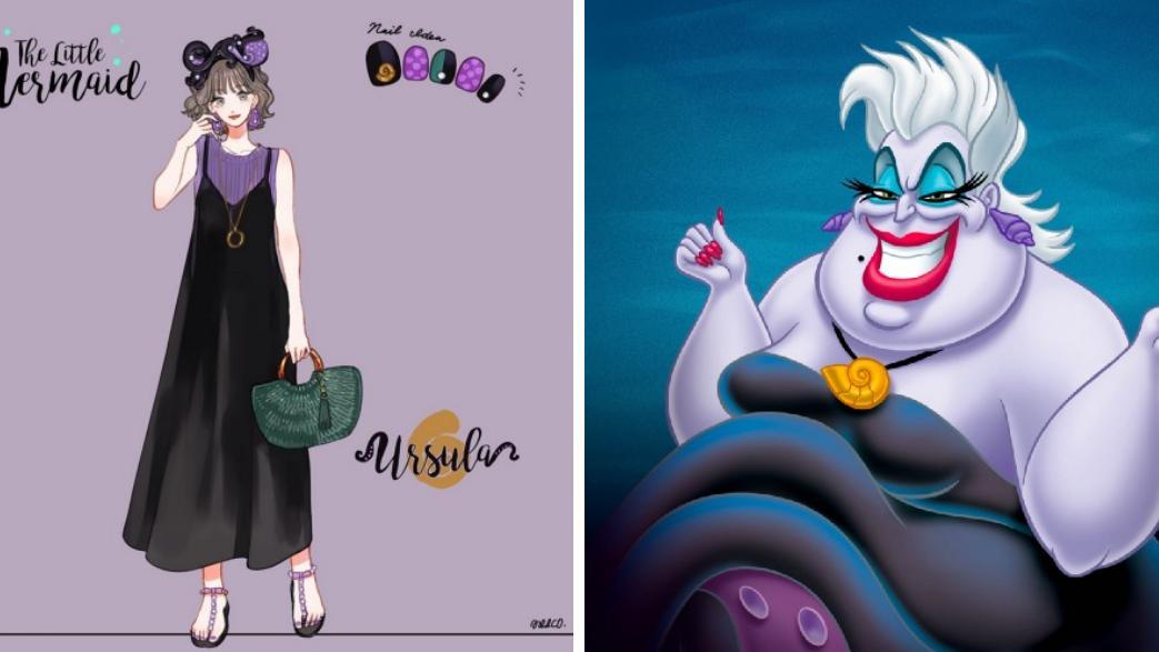 【迪士尼反派穿搭】少女心满满!日本绘师教你4个迪士尼反派造型灵感,万圣节穿搭