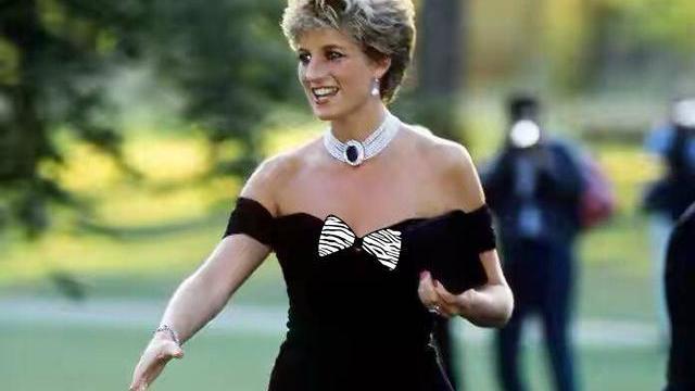 同是黑裙配珍珠,卡米拉却跟戴妃错得远,脸上皱巴巴比94岁女王老