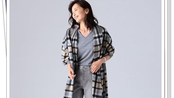 比开衫外套更有女人味!大幅面围巾的24种秋冬穿搭示例