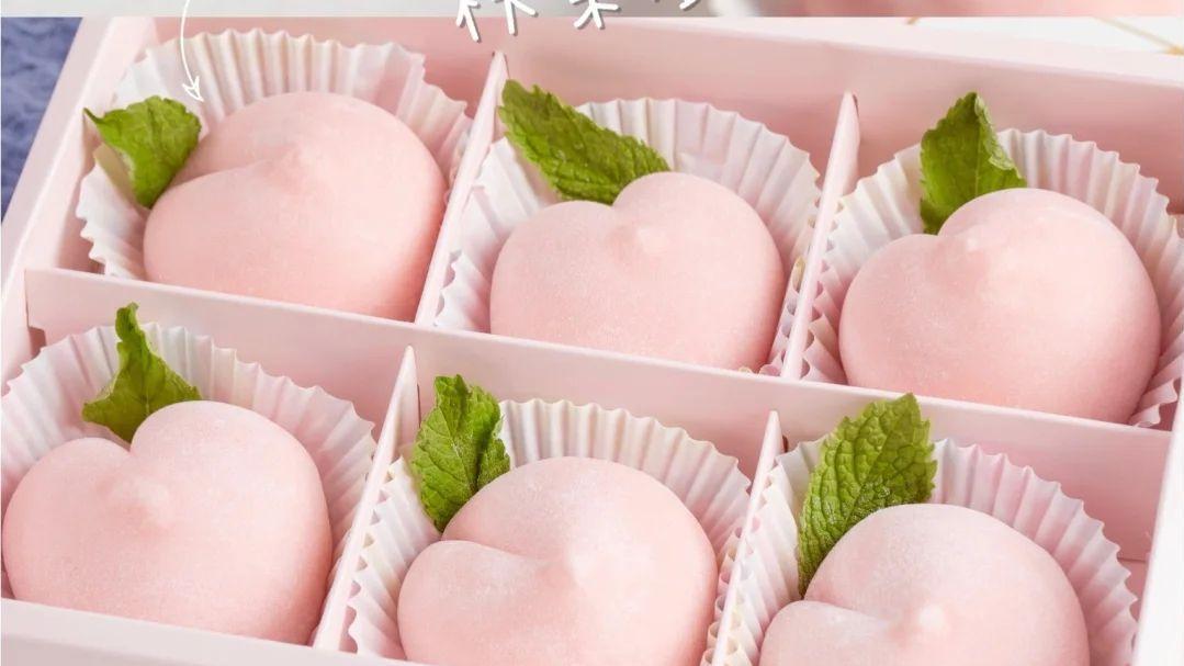 水蜜桃雪媚娘! 淡淡的水蜜桃味不知捕获了多少少女的心!