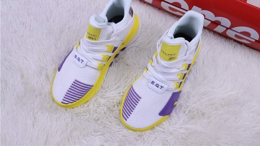 高颜值也容易脏 Adidas EQT BASK ADV阿迪EQT湖人队联名跑鞋 开箱