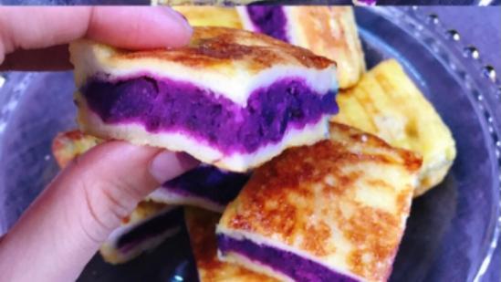 紫薯加吐司这样做超好吃,简单易上手,新人绝对不会出错的点心