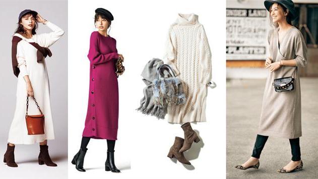 时髦女人必备的针织连衣裙,早秋季这样穿,既温暖又洋气