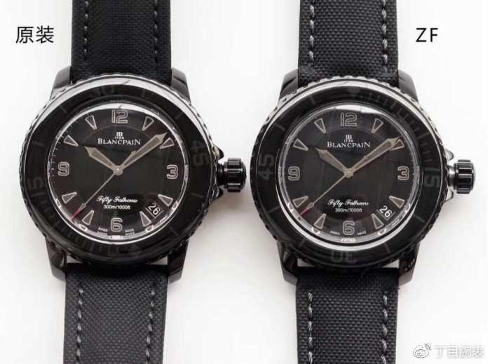 丁目腕表——ZF宝珀50噚黑武士潜水腕表评测