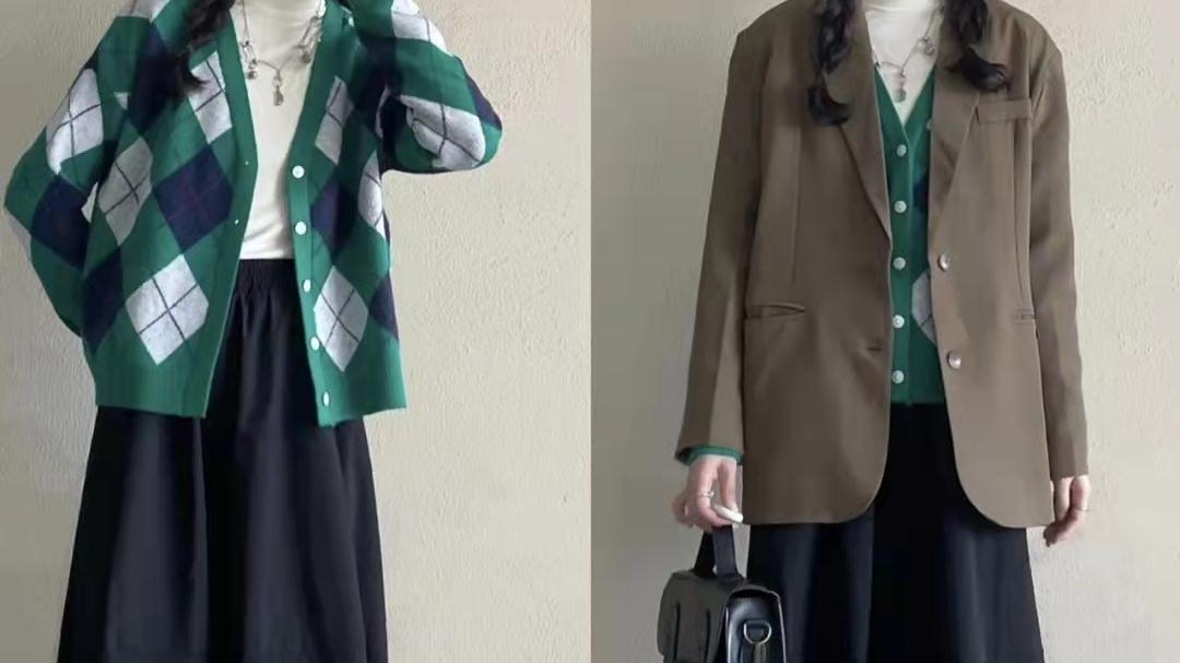 西装外套怎么搭配裙子好看