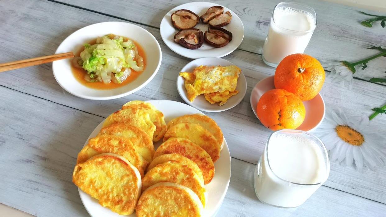夫妻俩的早餐,高蛋白多果蔬,花钱不多吃得好