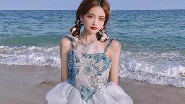 短款少女裙,宫廷风十足,精致时尚,网纱设计更显仙气飘飘