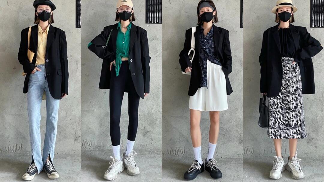"""一件""""黑色西装""""搞定一周搭配,别傻傻只知道搭牛仔裤、卷裤脚了"""