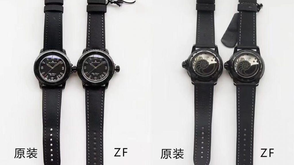 ZF厂宝珀五十噚黑武士复刻腕表对比正品腕表究竟如何, 对比差距测评!