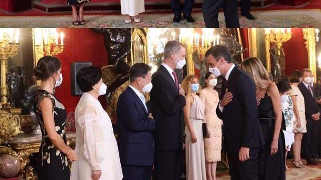"""韩国第一夫人穿泡泡袖展温婉东方美,西班牙王后用""""中国风""""致敬"""