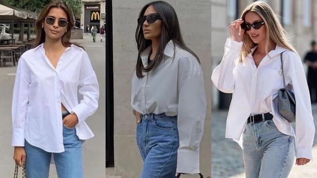 """白衬衫的""""神仙穿法"""",4种方式多套搭配,简单实用又好看"""