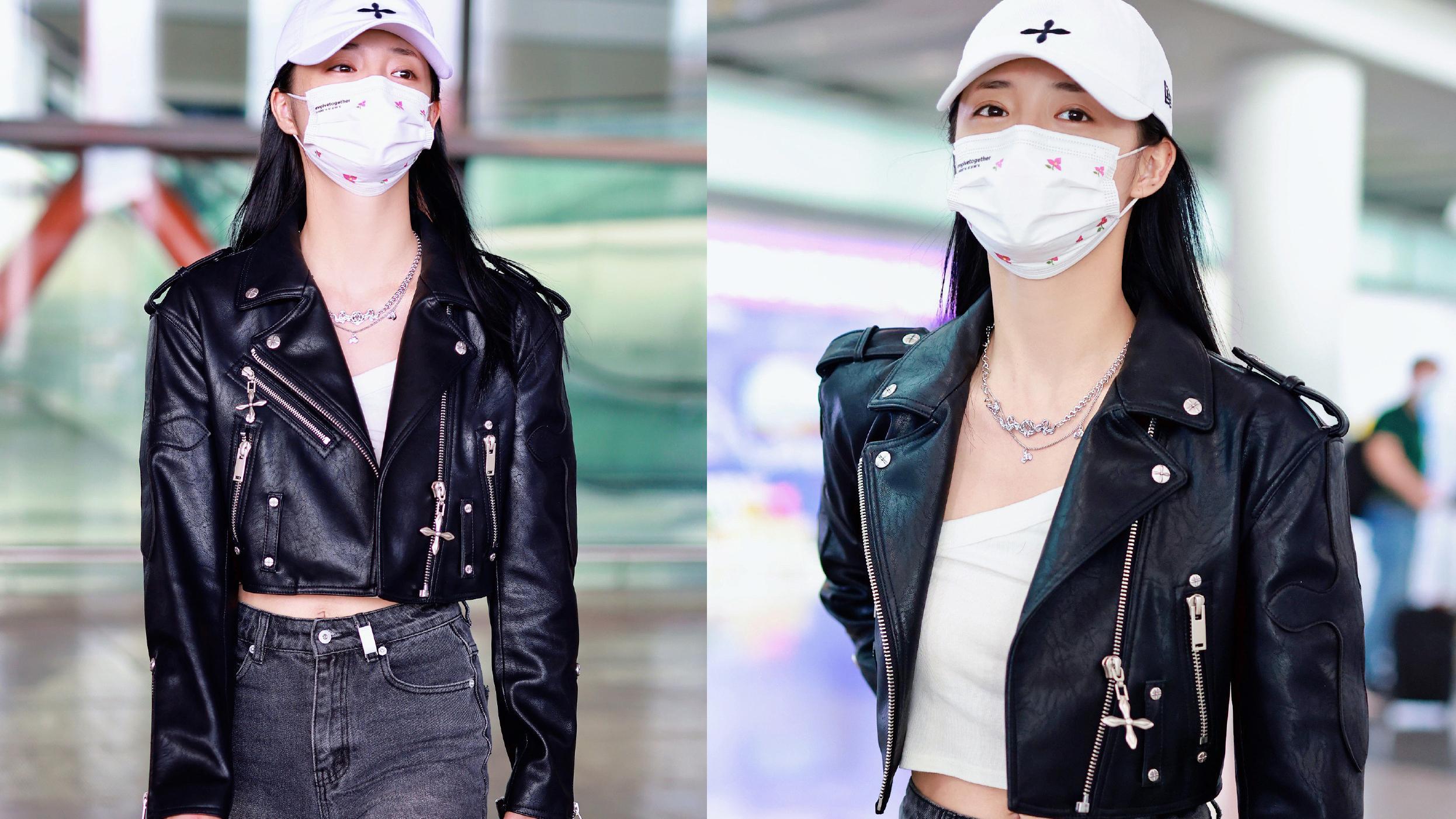 """今年流行""""酷美""""风,杨幂、文咏珊、宋妍霏的夹克穿搭,性感减龄"""