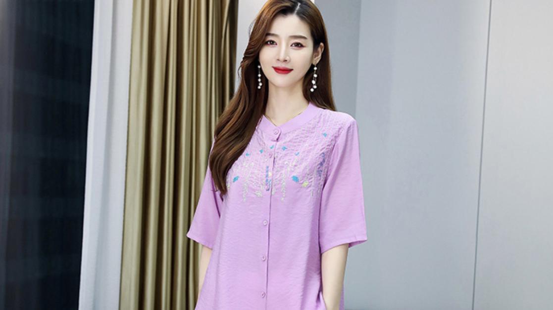 中年女性穿搭选择难,棉麻套装来帮您,时尚、舒适、优雅有气质