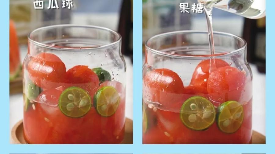 西瓜气泡水,夏日消暑饮品NO.1