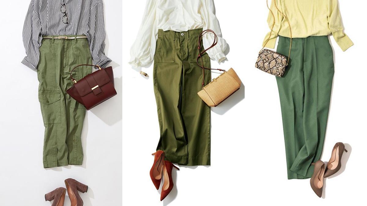 """军绿色裤子被低估了,会穿才知它是""""王者""""级别,造型美得不一样"""