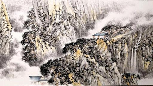 翰墨,华章山水画,的情感,中国画,作品,大展